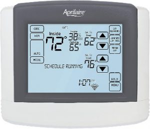 Thermostat with Humidity Control Aprilaire 8620W smart with IAQ